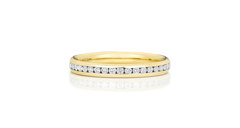9ct Yellow Gold Diamond Half-Eternity Ring